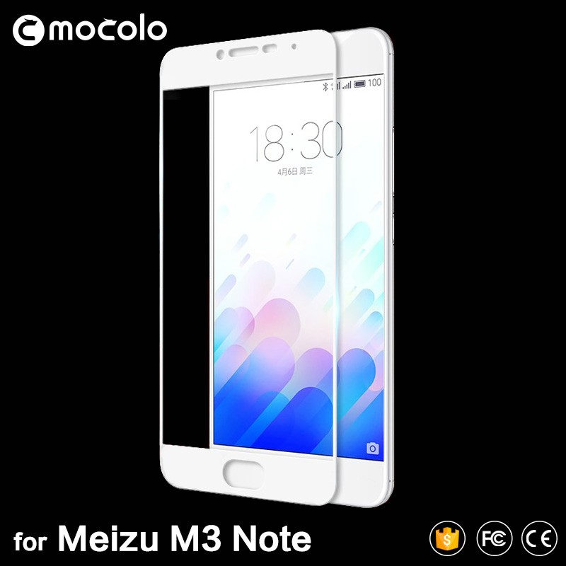 0.3mm 2.5d anti shock screen film for Meizu M3 Note full cover color phone film for Meilan Note 3 best tempered glass