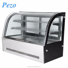 PEZO supply good quality chiller cooler cake display showcase