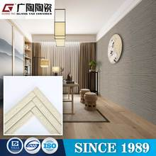 interior design shiny rough stone wall ceramic tiles,foshan suppliers brick villa bamboo stone design