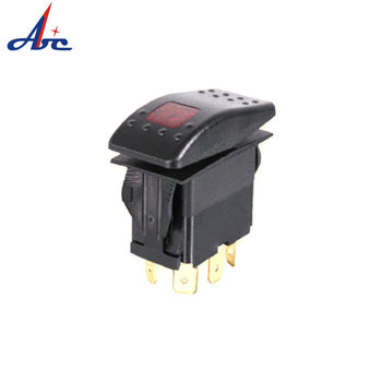 M09 (ON)-OFF SPST 3 terminal Hot Carling style 12V dc waterproof rocker switch
