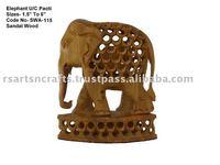 sandalwood handicraft-elephant statue,sandalwood carvings