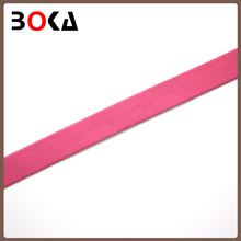 indian style high quality striped pure color elastic ribbon /polyester ribbon for curtain border