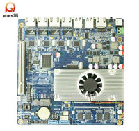 fanless appliance board 3.5 inch motherboard NET2550 onboard ram DDR3,with 4 LAN/Mini SATA/VGA/1*GPIO expansion header(8 group)