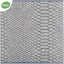 1.1mm python embossed PU synthetic leather fabric