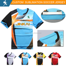 Personnalisé 2017 nouvelle conception sublimation de football jersey football shirt
