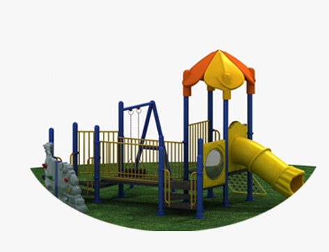 small outdoor playground equipment toddler outside toys slide and swing set playground HF-G100A