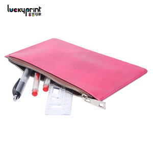 Blank Sublimation Leather Wallet, Custom Printed Kids School Pencil Case for Students