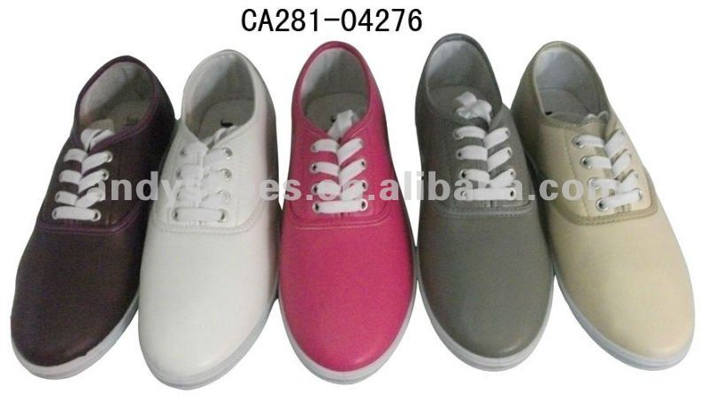 Classic low-cut vulcanized PU shoes