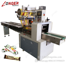 Commercial Used Low Price Chocolate Energy Bar Packaging Cutlery Diaper Cheese Flow Pack Cake Packing Machine