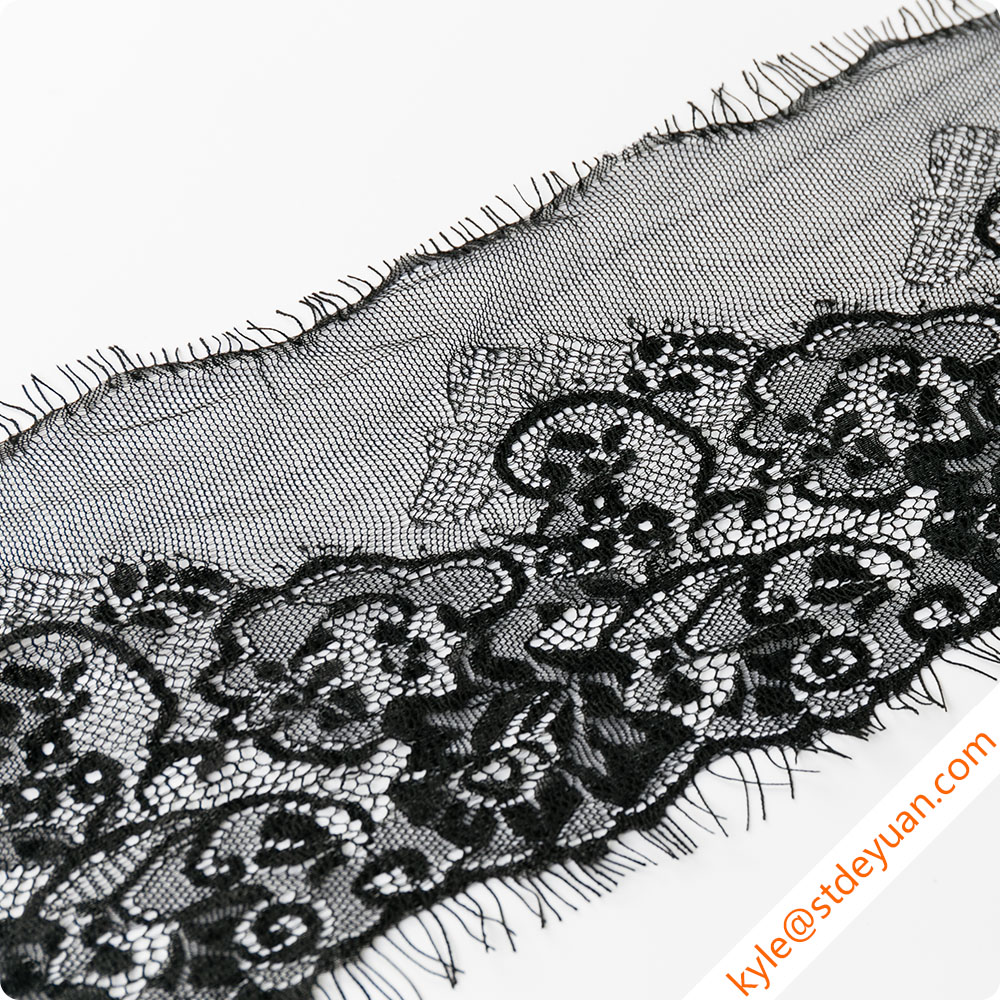 Exquisite French Lace Embroidered Tulle Lace Trim (21-6516)