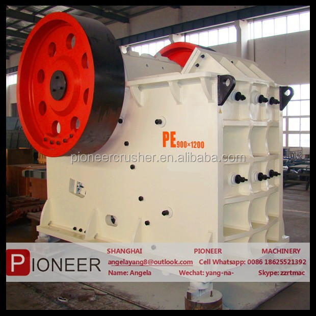 2015 stronger frame limestone, basalt, granite pe900x1200 jaw crusher