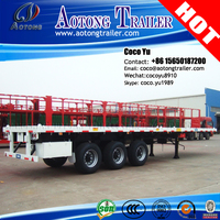 Cheap price 40Tons 40' container shipping 3 axles flatbed semi trailers for sale ( whatsapp 8615650187200)
