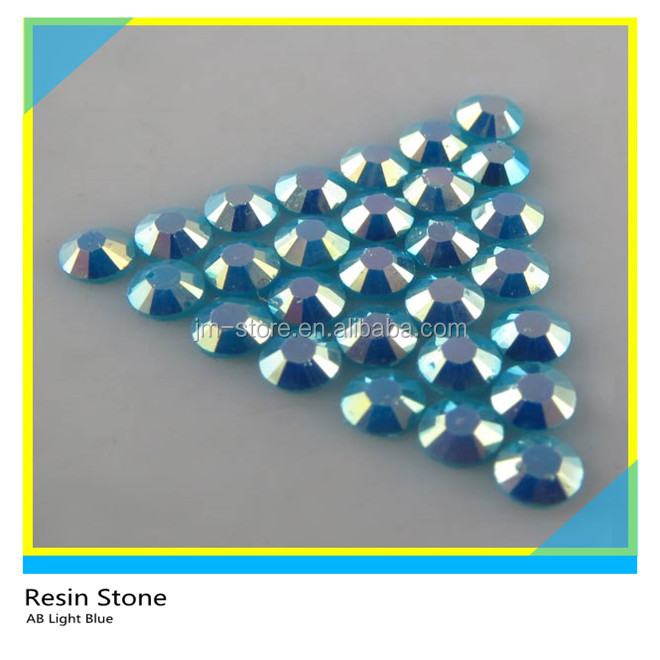 The Latest Creation Arrival SS10 AB Blue Resin Stone on Sale for Clothing