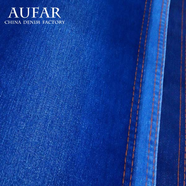 3241B92 cotton polyester spandex satin weave hot sale jeans denim textile fabric