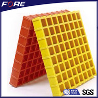 38mmx38mm frp grating for lifeboat deck, floor,ect