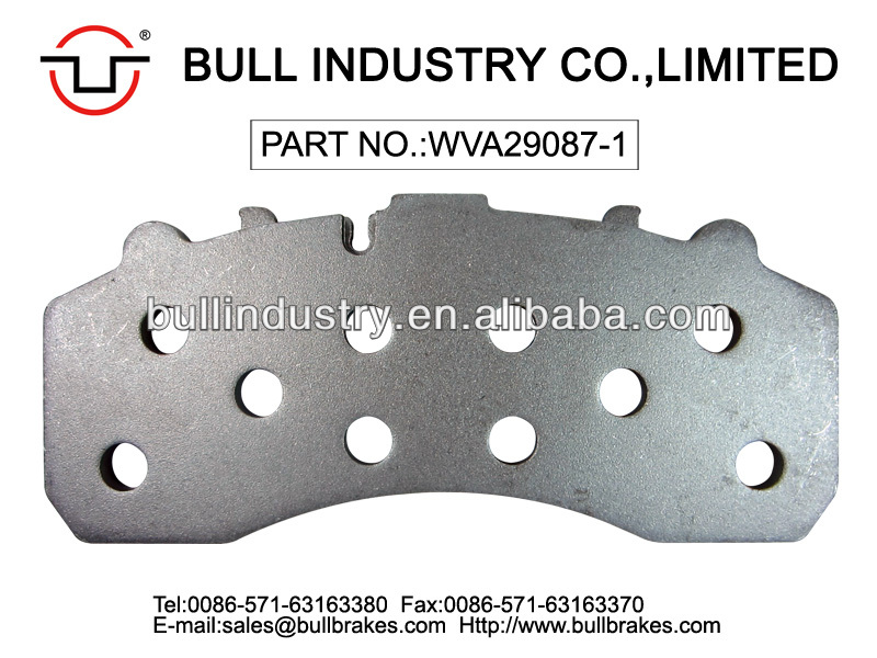 Agricultural Vehicles Brake Pad Backing Plate With Holes WVA29087 For IVECO