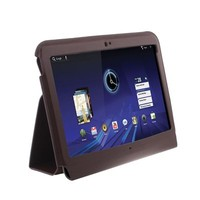 Leather Case with Holder for Motorola Xoom (Coffee)