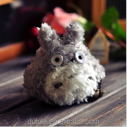 1pcs 8cm Keychain Doll Toy Kawaii My Neighbor Totoro Plush Stuffed Doll Bag Pendant Wedding Bouquet
