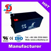 High quality long life energy deep cycle battery 12v 200ah, storage sealed AGM GEL ups 12v 200ah battery