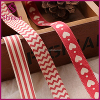 Wholesale custom new production red plain ribbon 10mm 15mm printed 100% cotton ribbon for packaging craft decoration