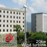 farm house use free energy 20kw pitch controlled wind turbine