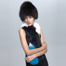 Russian Style Winter Warm Cheap Real Fox Fur Hat