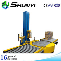 Heat shrink small box pallet stretch wrapping machine