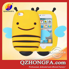 3D silicone Bee Case cute animal phone case for iphone 4 4s