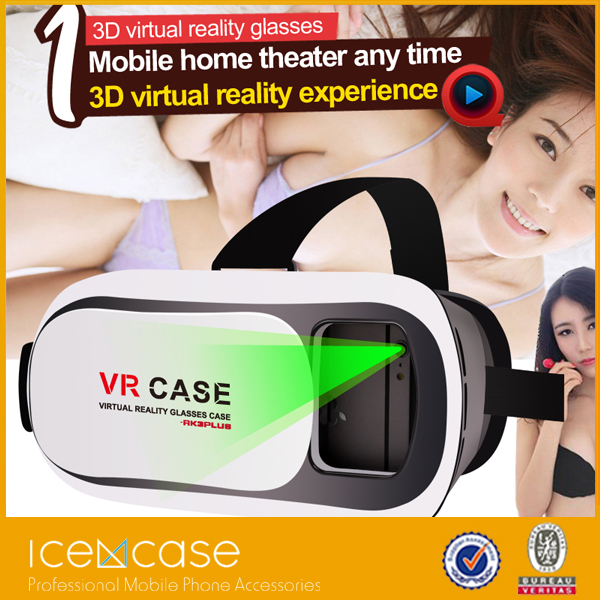 3d virtual reality glasses head mounted display for iphone 6 for google 3d <strong>video</strong>