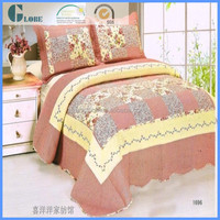 3d embroidered jacquard cotton cheap patchwork quilt