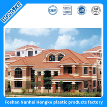 Spanish style synthetic resin roof tile for townhouses