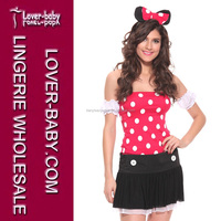 Hot Red Sexy Women Naughty Playful Mouse Costume Valentines Day Gift Fancy Clothes Costumes L1089