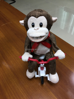 singing monkey in tricycle