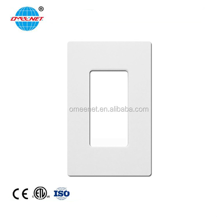 One Gang Decorative Screwless USB Wall Plate Led Cover Plates Face Plate