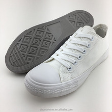 Wholesale Girls White Lace-up Vulcanized Shoes Womens Casual Shoes
