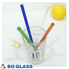 Food grade pyrex glass drinking straw with brushes and gift box