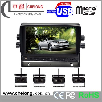 7 pickup truck track conversion system with 4CHs/7 inch car tv monitor with usb