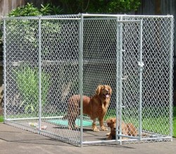Factory used chain link portable modular dog cage large dog fences, Chain link dog kennels / Wholesale dog cages