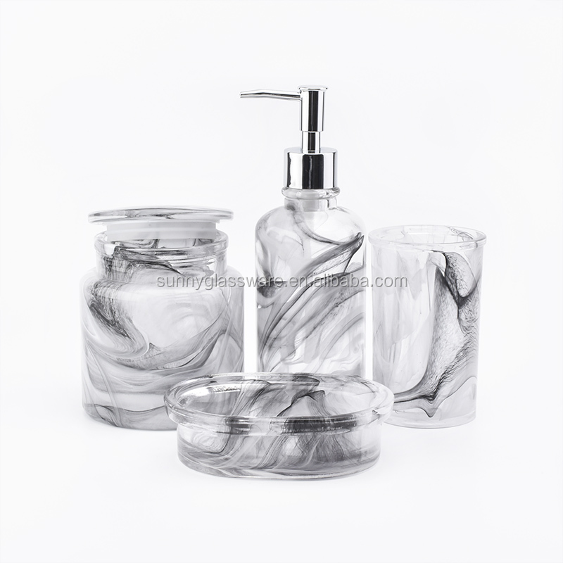 overlay glass bath accessories sets