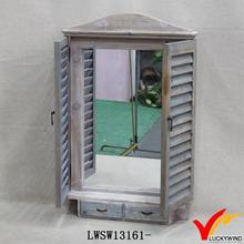 farming shabby shutter decorative wooden window mirror