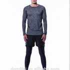 OEM Custom mens long sleeve t shirt plain seamless gym t shirt wholesale