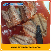 Customized can size brine salty canned fish jack mackerel