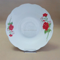 silver cut edge ceramic pizza plate/ cheap ceramic plates wholesale from china