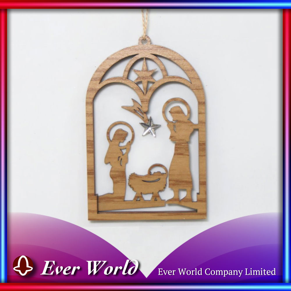 2017 Christmas Ornament Sale Christmas MDF Nativity Ornament