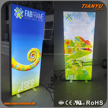 wall mount or free standing fabric face led light display