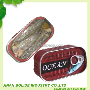 Canned Sardines in Vegetable Oil 125g with good quality