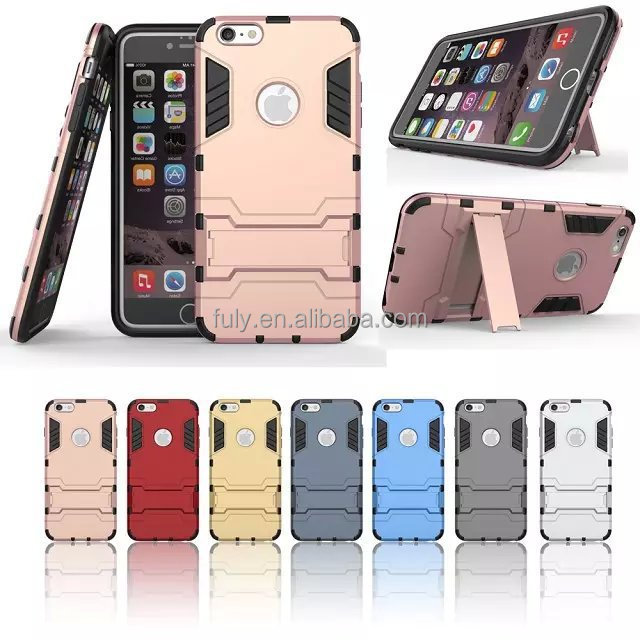 TPU+PC Hybrid Heavy Duty Cover Iron Man Slim Armor Shockproof Case for iphone 7