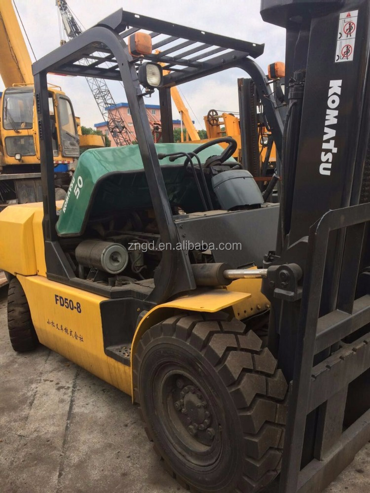 Used 5t forklift with 2 stages second hand 5t toyota lifter used condition toyota 5t lifer made in 2008 for sale in Shanghai
