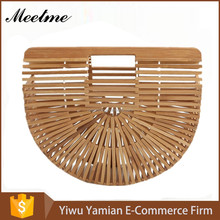 Bamboo Bird Cage Handbag Purse half round bamboo bagLuxe Beach Bag for Women Blogger Favorite