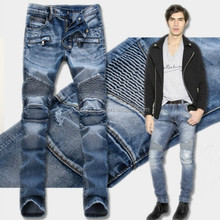 TP104 high quality biker jeans robin jeans for men